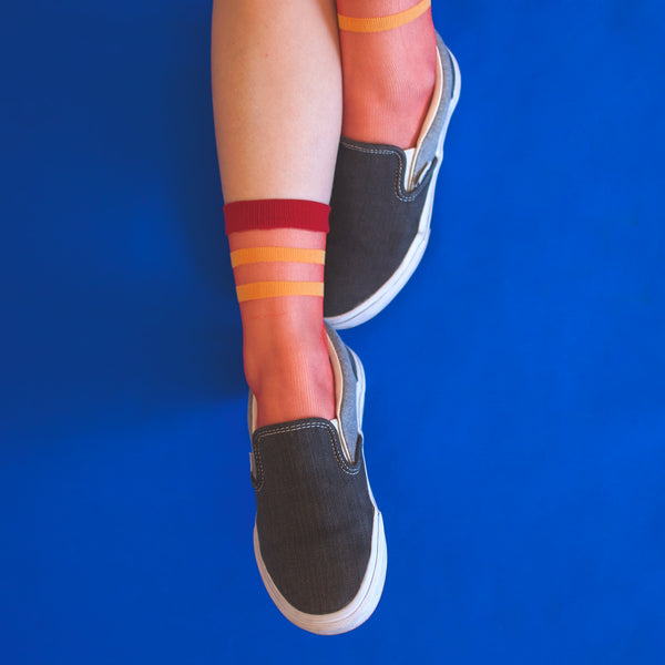 SHEER PATTERNED SPORT SOCKS