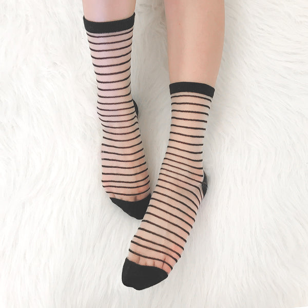 STRIPED SOCKS (CLICK FOR 2 COLORS)