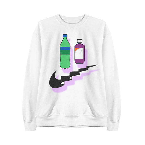 SOFT DRINK SWEATSHIRT WHITE - MJN ORIGINALS