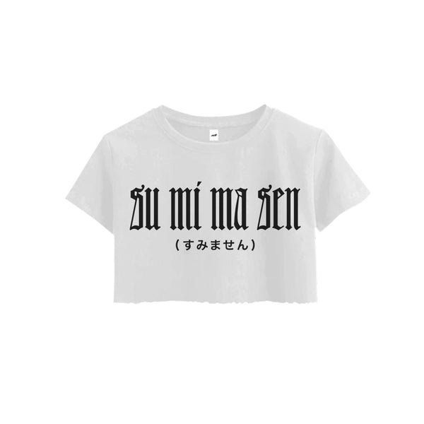 SUMIMASEN REFLECTIVE CROPPED TEE - MJN ORIGINALS