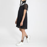 SAILOR MESH DRESS BLACK
