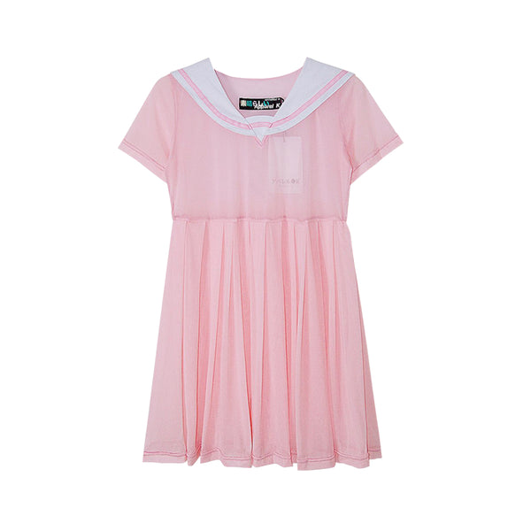 SAILOR MESH DRESS PINK