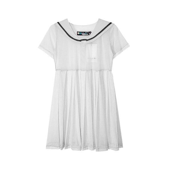 SAILOR MESH DRESS WHITE