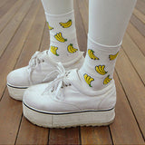 BANANA SOCKS WHITE