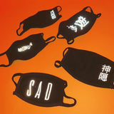 SAD REFLECTIVE FACE MASK - MJN ORIGINALS