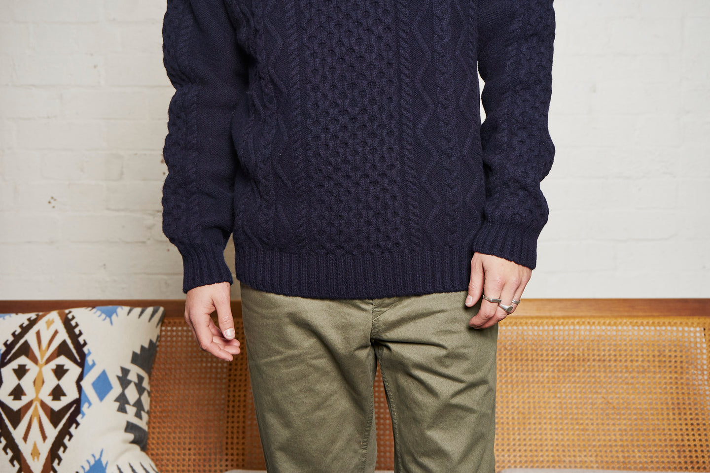 Arild Cable Knit x Aros Heavy Chino