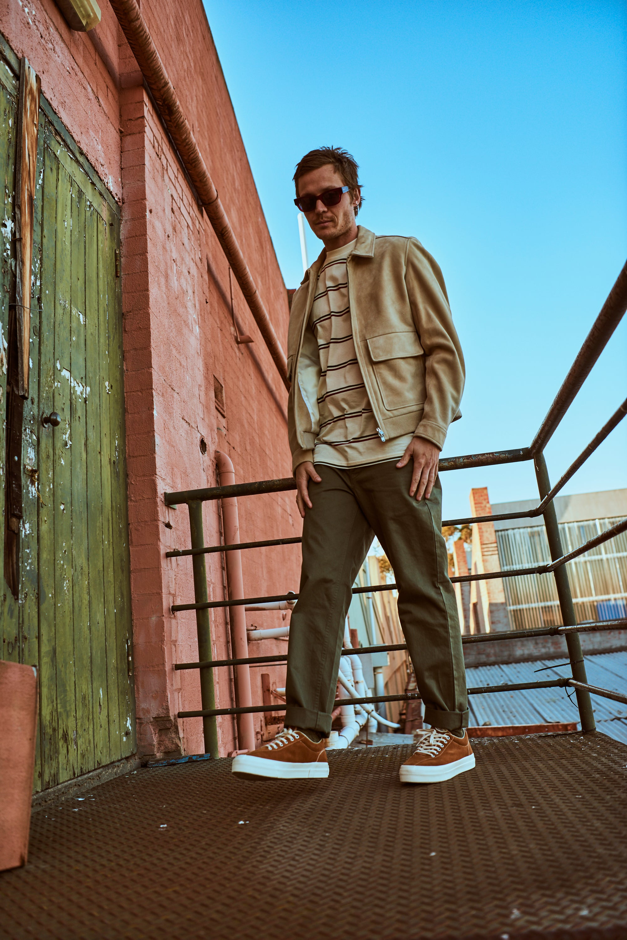 256d76a3890e Sun Buddies Sunglasses • Norse Jacket & Pants • Post Details Tee • Stepney  Workers Club Shoes