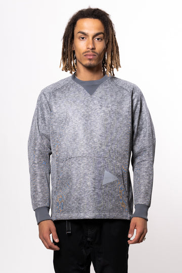 AND WANDER W Raschel Pullover Gray | HAVN