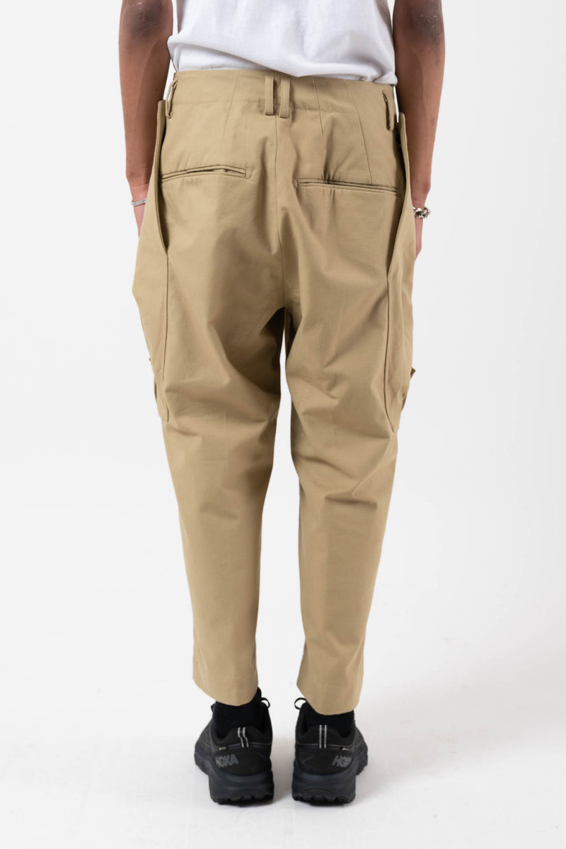 Diamond Cargo Pocket Pants Beige