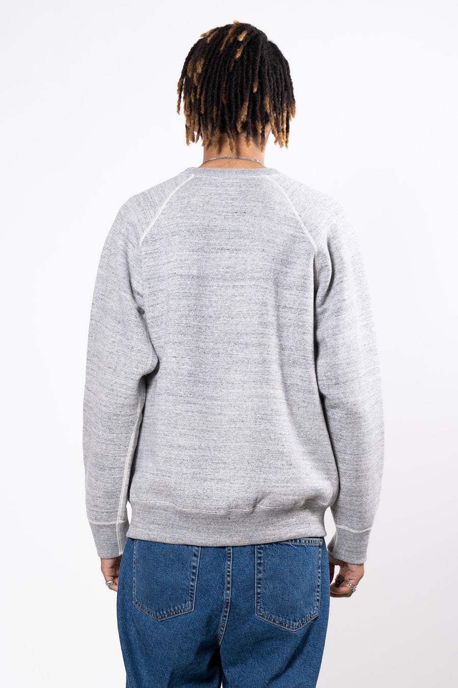 ORSLOW Crew Sweat Heather Grey | HAVN