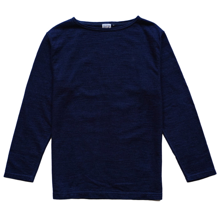 Indigo Boat Neck Long Sleeve Tee