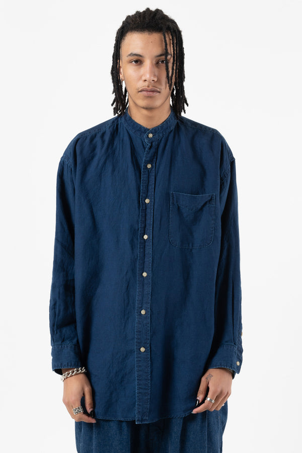 Loose Fit Stand Collar Shirt