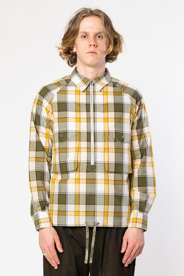 Scout Pullover Shirt Yellow & Green Check
