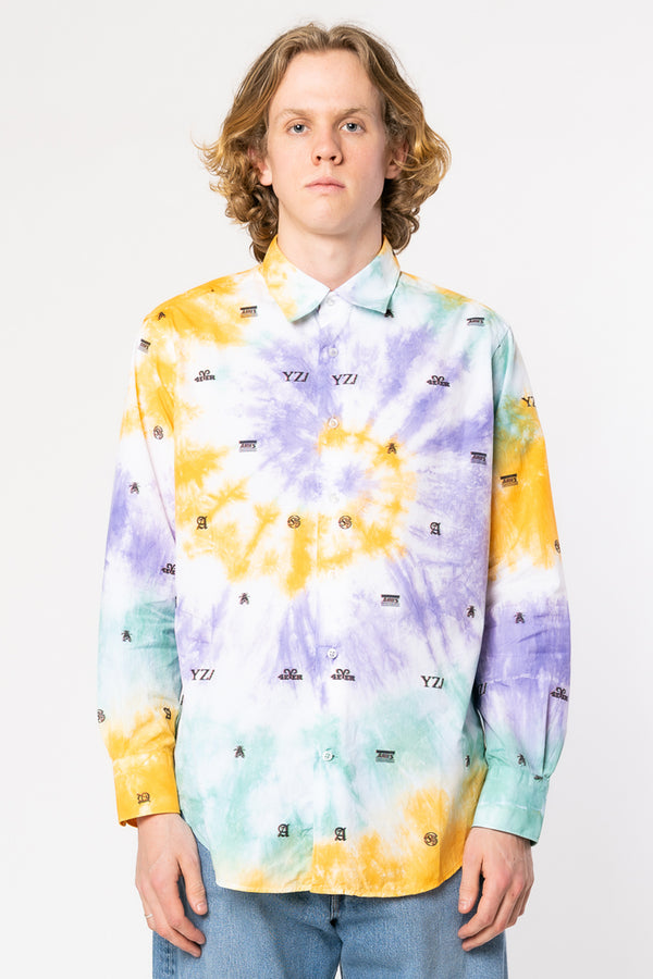 ARIES Tie Dye 3D Monogram Shirt | HAVN