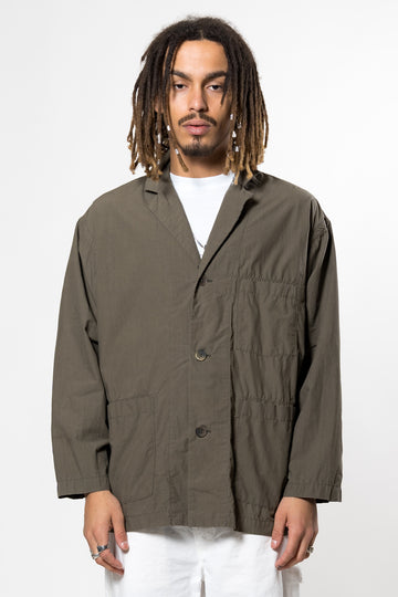 Loose Fit Tailored Jacket Olive Drab