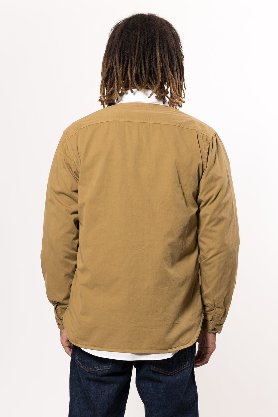 orSlow No Collar Shirt Khaki