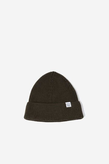 NORSE PROJECTS Norse Short Beanie Beech Green | HAVN