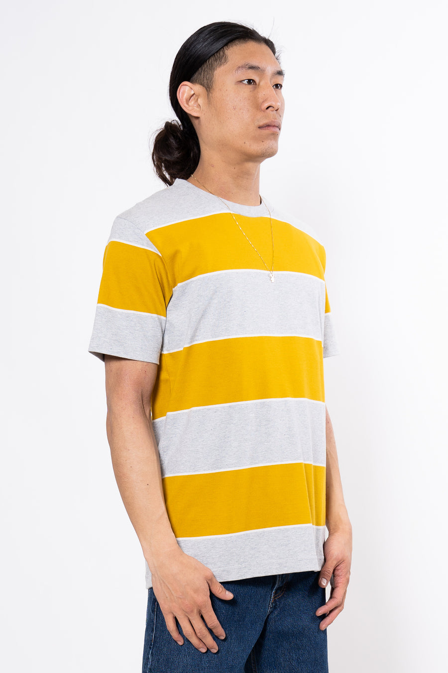 NORSE PROJECTS Johannes 3 Stripe T-Stripe Montpellier Yellow | HAVN