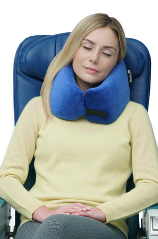 NEST™ THE ULTIMATE MEMORY FOAM TRAVEL PILLOW - Blue
