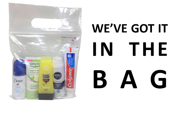 Travel Toiletries for Hand Luggage