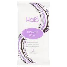 Halo Deodorant Wipes - Travel size