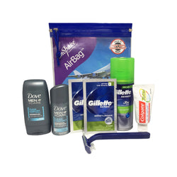 Mini Toiletries Essentials Set for Men - Travel Toiletries 2 Go