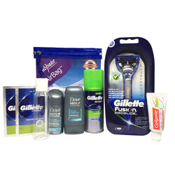Men's Travel Toiletries Set - Short Break (Gillette) - Travel Toiletries 2 Go