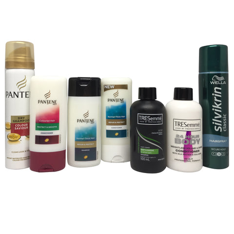 Hair Care Multipack, all under 100ml - Travel Toiletries 2 Go