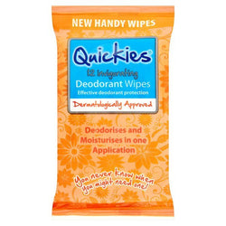Quickies Deodorant Wipes Travel size - Travel Toiletries 2 Go