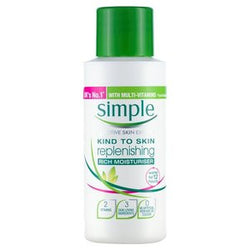 Simple Mini Travel Size Moisturiser 50ml - Travel Toiletries 2 Go