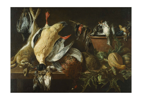 Adriaen van Utrecht Still Life with Games and Vegetables