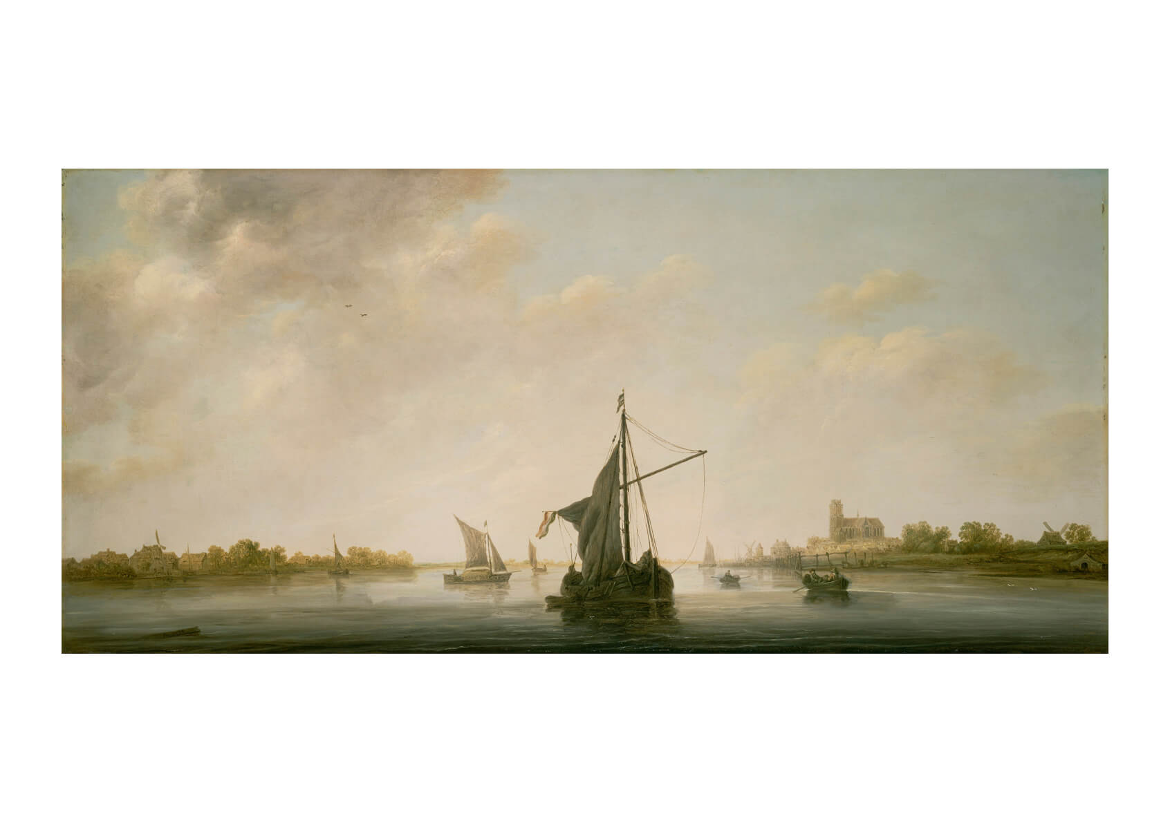 Aelbert Cuyp Dutch - A View Of The Maas At Dordrecht
