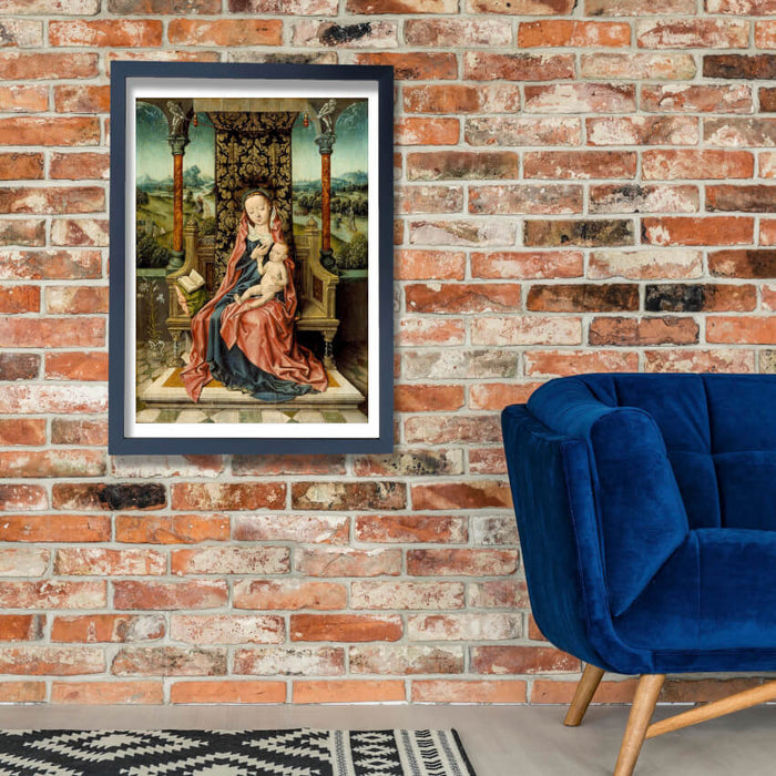 Aelbrecht Bouts - Madonna And Child Enthroned