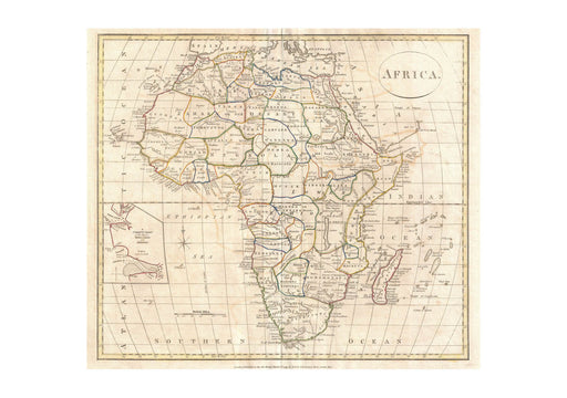 Africa Map Clement Cruttwell 1799