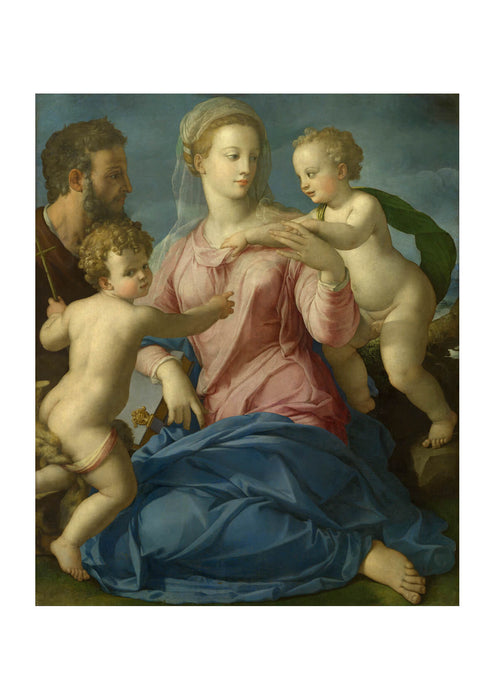 Agnolo Bronzino - Holy Family With Saint John