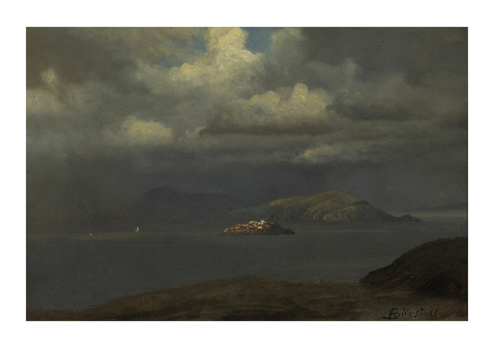 Albert Bierstadt - Alcatraz San Francisco Bay