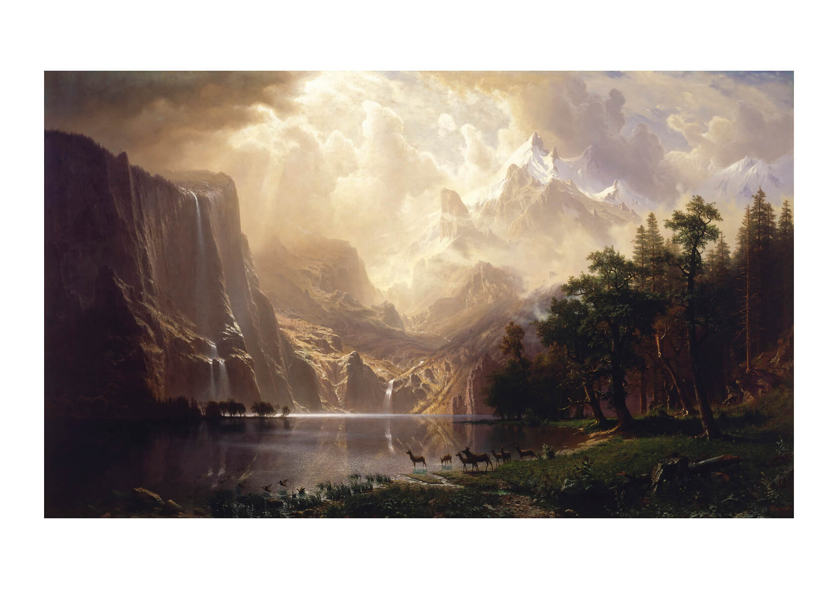 Albert Bierstadt - Among The Sierra Nevada California