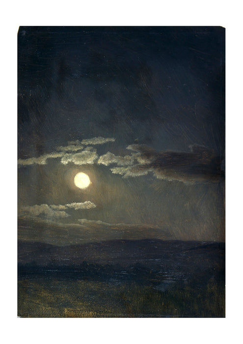 Albert Bierstadt - Cloud Study Moonlight