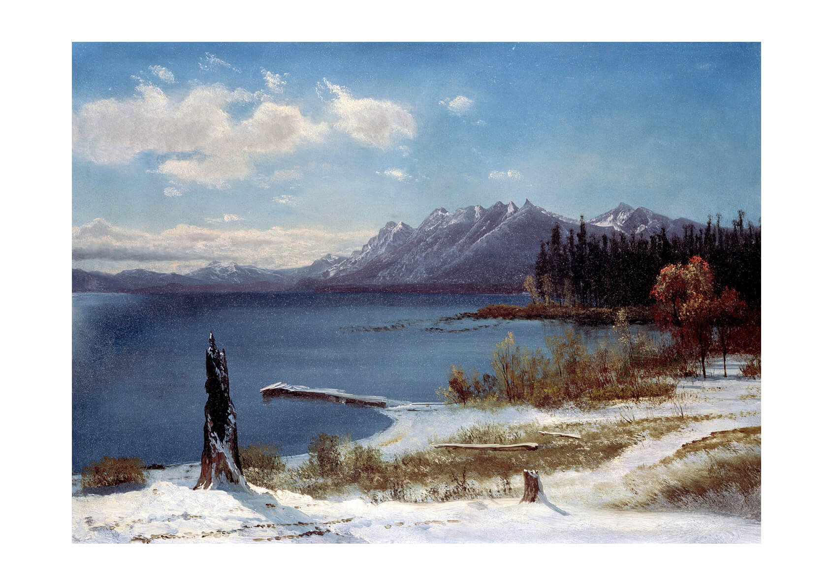 Albert Bierstadt - Lake Tahoe in winter