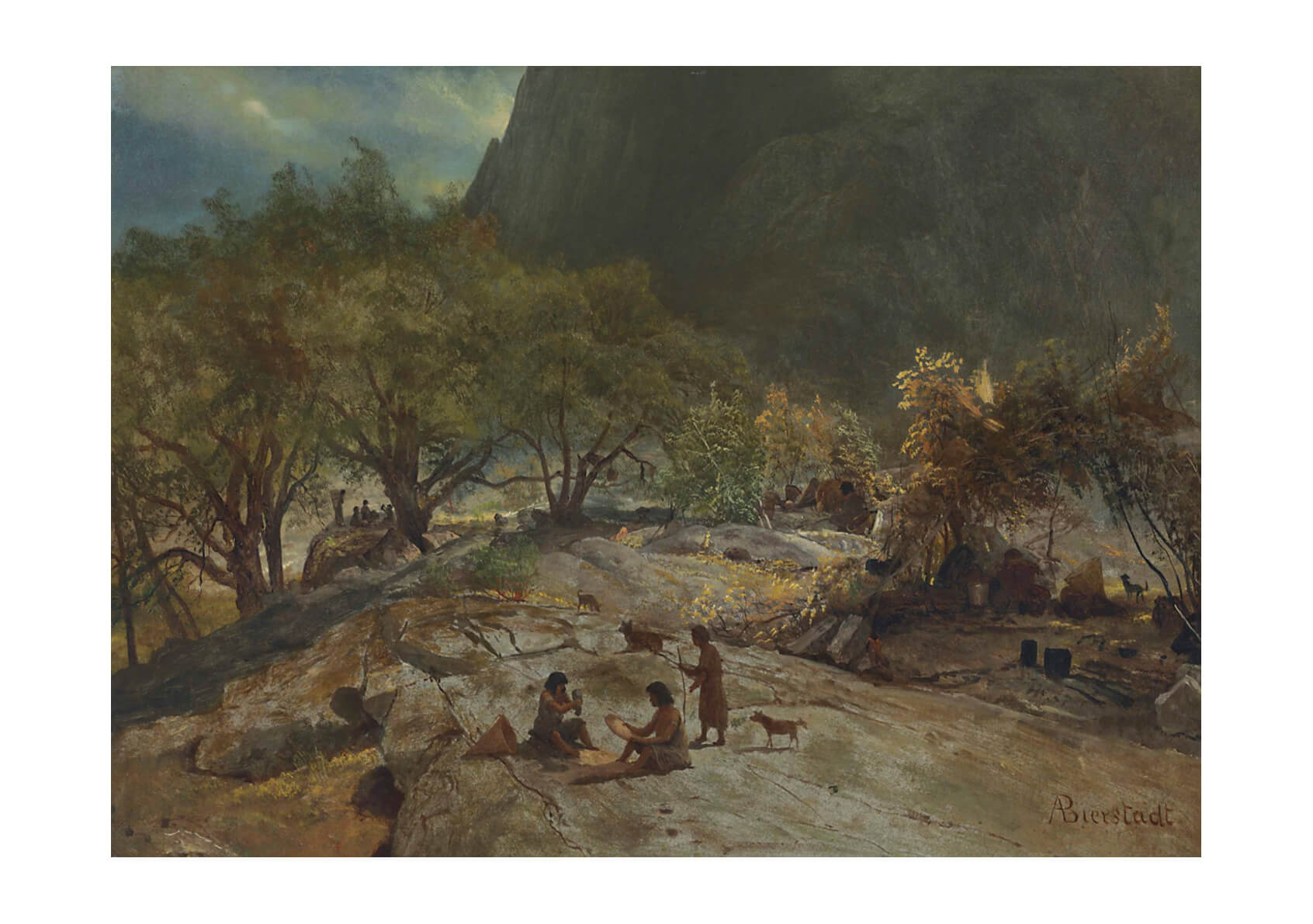 Albert Bierstadt - Mariposa Indian Encampment Yosemite Valley