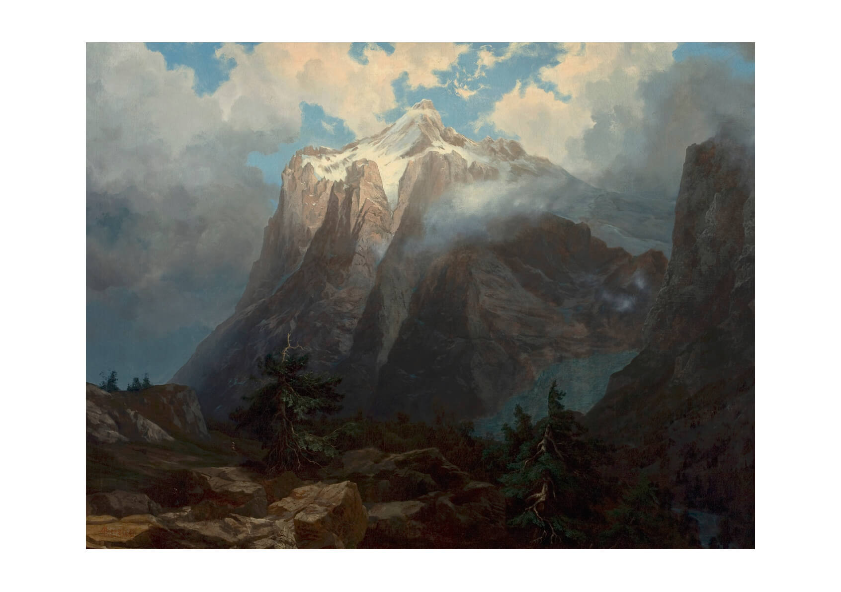 Albert Bierstadt - Mount Brewer from Kings River Canyon California