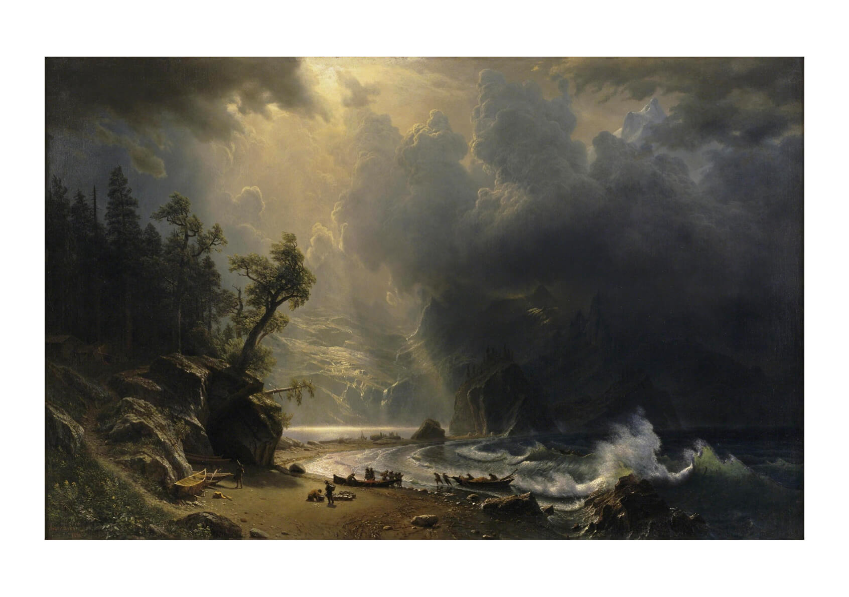 Albert Bierstadt - Puged sound of the Pacific coast
