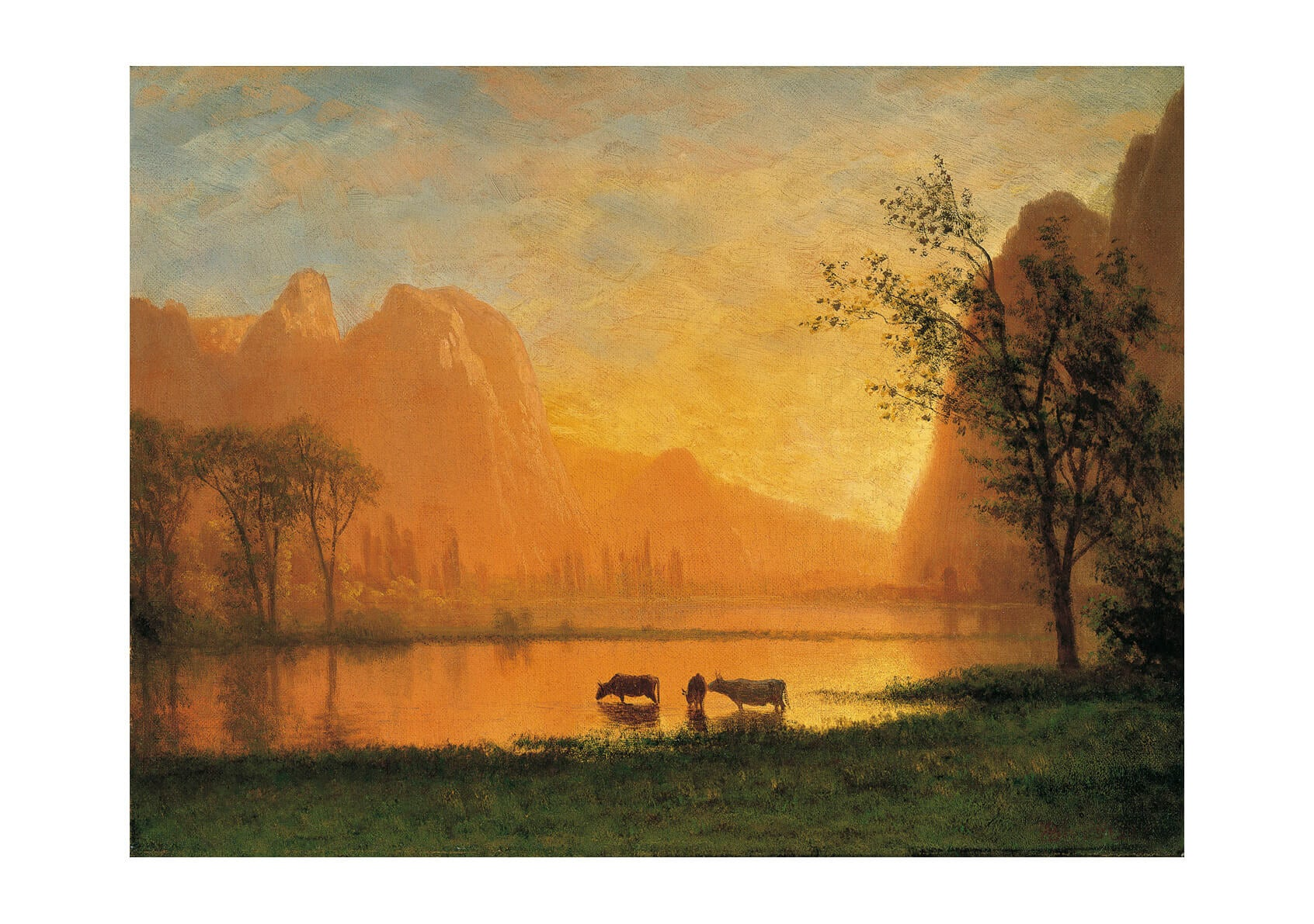 Albert Bierstadt - Sundown at Yosemite