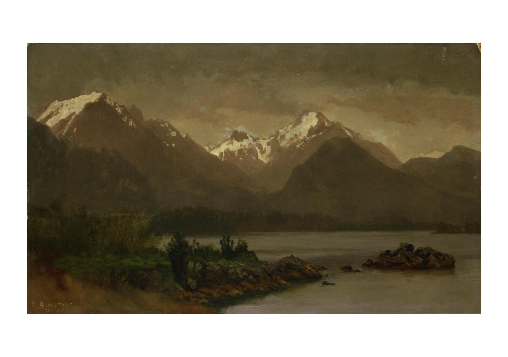 Albert Bierstadt - Untitled mountains and lake