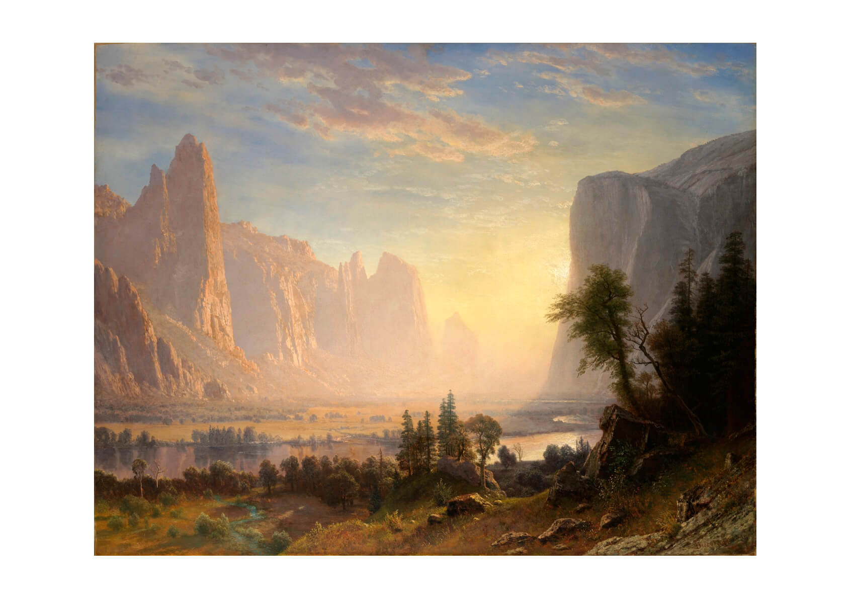 Albert Bierstadt - Valley of the Yosemite_