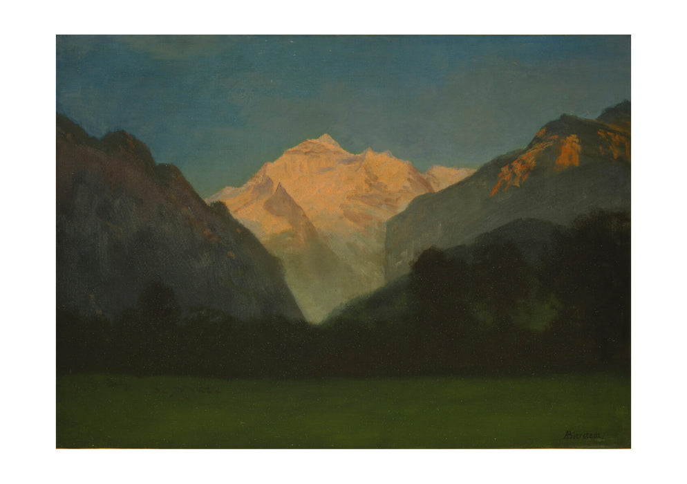 Albert Bierstadt - View of Glacier Park or Sunset on Peak