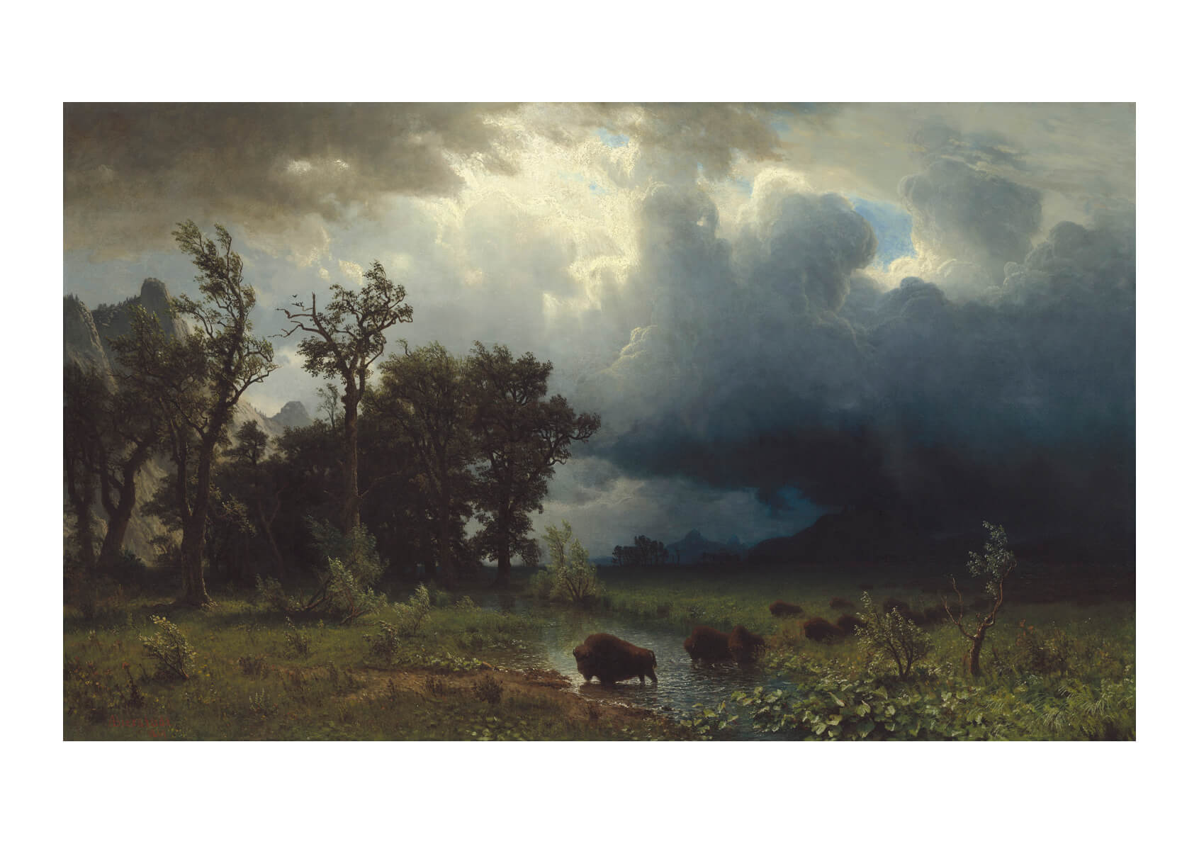 Albert Bierstadt Buffalo Trail The Impending Storm