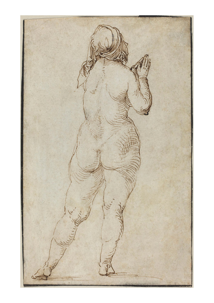 Albrecht Durer - Female Nude Praying