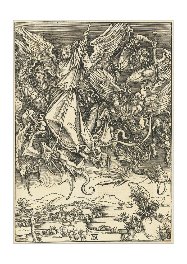 Albrecht Durer - Saint Michael Fighting the Dragon