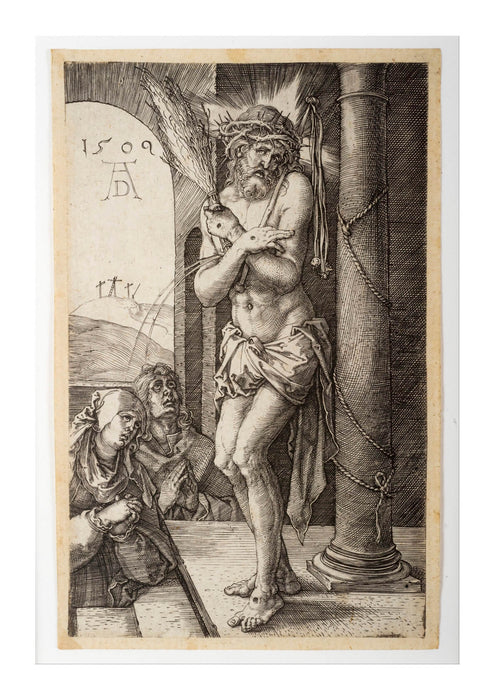 Albrecht Durer - The Man of Sorrows by the Column with the Virgin